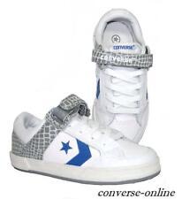 Niño Chico Chica Converse All Star Ox Entrenadores Zapato De Cuero Blanco de calamar Size UK 12.5