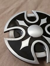 7b0fbabfe84f New Enamel Round Celtic Cross Vintage Belt Buckle Biker Gothic Punk