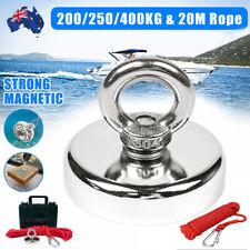 200/250/450KG Salvage Magnet Neodymium Strong Hook Treasure Fishing & 20M Rope