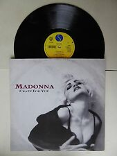 """Madonna - Crazy For You  3 Track 12"""" Single Vinyl Sire W0008T 1991"""