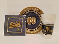 Notre Dame Fighting Irish TAILGATE PICNIC SET Plates Napkins Cups FREE SHIPPING!