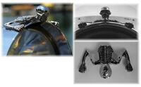 Emblème ornement de phare Skull PF tête de mort chrome moto custom Ornament