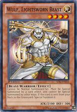1x Yugioh SDLI-EN010 Wulf, Lightsworn Beast Common Card