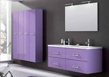 Mobile da Arredo per Bagno sospeso moderno con doppio lavabo in 25 colori mobili