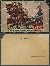 Angelo Jank Oktoberfest München Bauer Pflug Pferde ZLF Landwirtschaftsfest 1910