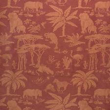 Lee Jofa Les Animaux d'Afrique Linen Silk Upholstery Garnet MSRP $290/yd