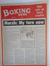 Boxing News 8 Jan 1988 Holyfield-Qawi George Collins Derrick Williams,Tyson