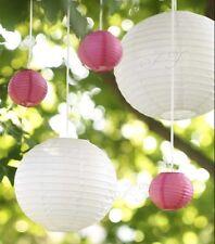 24x white pink paper lanterns engagement wedding party birthday venue decoration