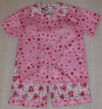 Laura Dare Toddler Girls Pink Hearts Dots 2pc Pajamas Sleepwear Set Size 3T NWT