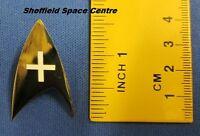 Star Trek Original Series Medical Insignia White Pin Badge STPIN34