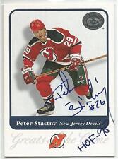PETER STASTNY Autographed Signed 2001 Fleer GOTG card New Jersey Devils COA