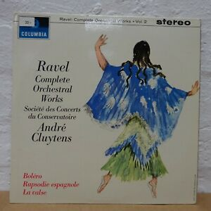 SAX 2477 RAVEL Orchestral Work CLUYTENS PARIS CONSERV COLUMBIA STEREO B/S LP EX+