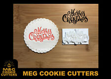Embossing for cupcake and cake - stamps sugarpaste Merry Christmas