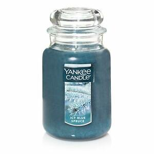 ☆☆ICY BLUE SPRUCE☆LARGE YANKEE CANDLE JAR☆☆ FRESH SCENT☆☆FREE EXPEDITED SHIPPING