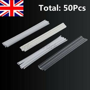 UK 50Pcs PVC ABS PP PE Plastic Welding Rods Kits For Welding Welder Gun Tool