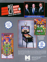 Monday Night Football Pinball FLYER Original NOS 1989 Data East Great Wall Art