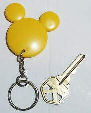 Disney Mickey Mouse YELLOW Mickey Head Ears Mickey Silhouette Keychain