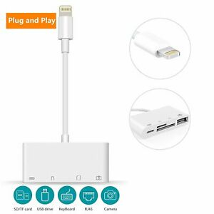 Portable to Card Reader Adapter USB Camera Micro SD Memory Slot for iPad iPhone