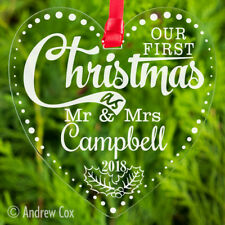 Our First Christmas as Mr and Mrs Baubles Wedding Gifts Tree Decoration 1st