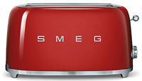 SMEG 50's Retro Style Aesthetic 4 Slice Toaster 1400W Electric Red NEW
