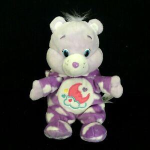 """Care Bear Sweet Dreams Plush Modern Cloud Pj's Purple Stuffed Doll 9"""" Toy 2015"""