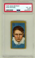 1911 T205 Gold Border Josh Devore NY Giants PSA 4 MC New Grade Sweet Caporal