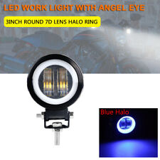 "3"" 20W Round LED Work Light Bar Spot Lamp Off Road Driving Fog Motorcycle Blue"