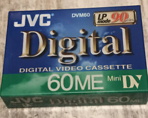 Genuine JVC Digital (DVM60) 60ME Mini DV 90 Minute Video Cassette