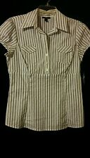 Juniors' Printed Short Sleeve BCX Button up Top Size L