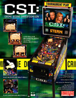 CSI Pinball FLYER Original NOS 2008 Ready To Frame Crime Scene Investigation