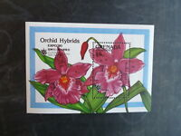 1990 GRENADA GRENADINES ORCHIDS HYBRIDS EXPO '90 STAMP MINI SHEET MNH