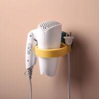KQ_ CW_ Bathroom Wall Mounted Punch-Free Hair Dryer Holder Storage Rack Shelf Ca
