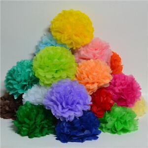 10 Pack of Paper Pom Poms Pompom Wedding Party Hanging Garland Tissue Decor Size