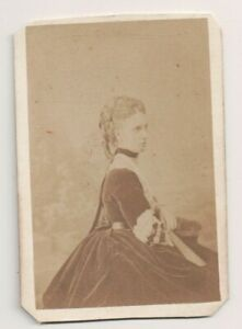 Vintage CDV Princesse Alexandra De Danemark Reine Grande-Bretagne Le Jeune Photo