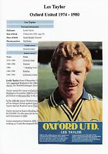 LES TAYLOR OXFORD UNITED 1974-1980 ORIGINAL HAND SIGNED MAGAZINE CUTTING