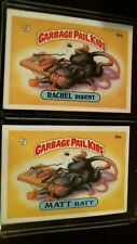1985 garbage pail kids series Ii 2 card set Matt Ratt,Rachel Rodent!