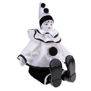 38cm Adorable Porcelain Doll Harlequin Doll Christmas Gift Home Ornaments #4