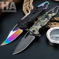 Pocket Folding Knife Outdoor Camping Hunting Hiking Fishing Survival Gift Q01