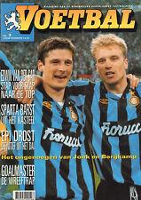 MAGAZINE VOETBAL 1994 nr. 03 - JONK & BERGKAMP/VAN DER SAR/EPI DROST/JSB