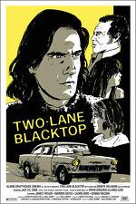 Two lane blacktop by Casey Burns 2008 - Rare sold out Mondo print