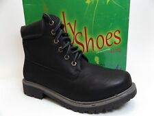Women's DAILY SHOES ROCK-0  Combat Ankle Boot Black SZ 8.0 M NEW DISPLAY  D5297