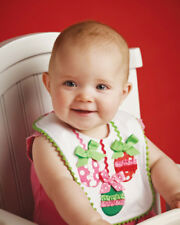 Mud Pie Baby ORNAMNENT PIQUE BIB 130102 Christmas Santa's Little Helper