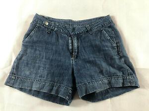 Witchery Womens Lightweight Blue Denim Shorts Summer Size 8  Free Shipping