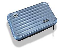 Rimowa Blue Metallic Zipped Cosmetic Kit Clutch Pochette Bag, Vip First Class !