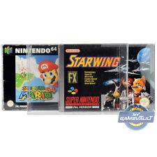 3 X SNES N64 protectores de la caja del juego para Super Nintendo 0.5 mm plástico caso de exhibición