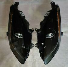 Jaguar F-Type F Type Headlights. SAE USA spec. 2014-2017. PAIR. Black bezel.
