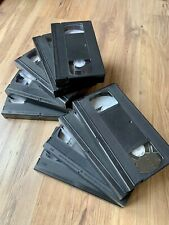 9x VHS Tapes 180 min mixed unbranded