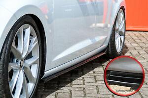 CUP3 Seitenschweller ABS für Seat Leon 5F Facelift FR Cupra R ST Schwarz Glanz