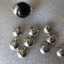 30 un. Tapas de perlas de plata tibetana Collares termina joyería artesanal 01845 10 Mm x 4 mm