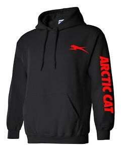 ARCTIC CAT Hoodie SNOWMOBILE BLACK Sweatshirt CHOOSE DESIGN COLOR ATV XF ZR